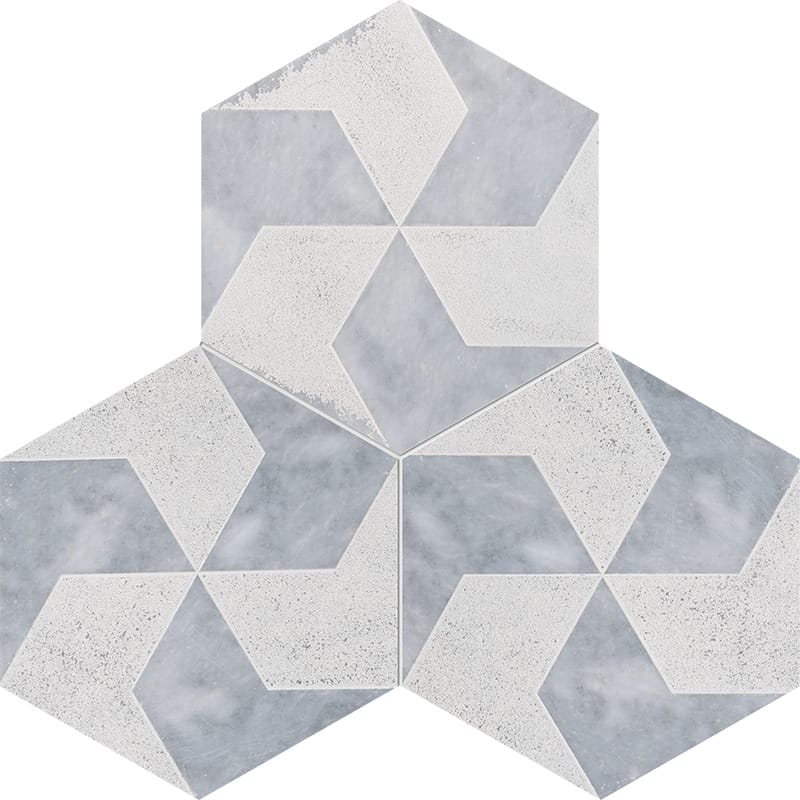Allure Diced Polygons Marble Tiles 8×8