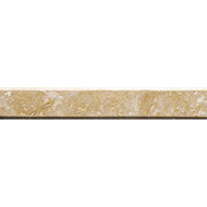 Gold Dust Polished Ridgeline Travertine Mouldings 1 3/8x9