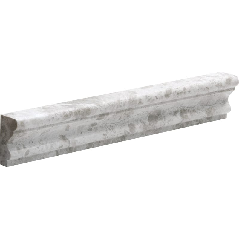 Silver Clouds Polished 2x12 Andorra Marble Mouldings