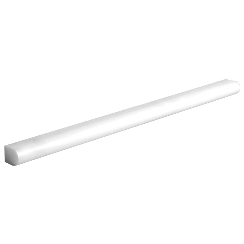Thassos White Polished 1/2x12 Pencil Liner Marble Mouldings