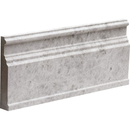 Silver Shadow Honed Base Marble Moldings 5 1/16x12
