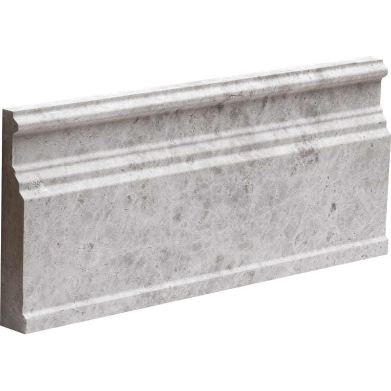 Silver Shadow Honed 5 1/16x12 Base Marble Mouldings