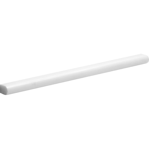 Snow White Honed Pencil Liner Marble Moldings 1/2x12
