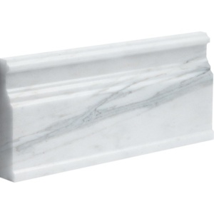 Calacatta Gold Royal Polished Modern Base Marble Moldings 5 1/16x12
