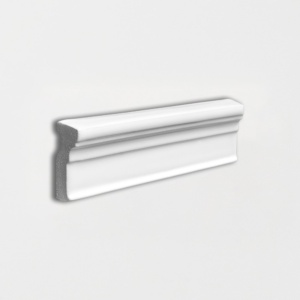 Royal White Glossy Ogee Trim Ceramic Moldings 2x6