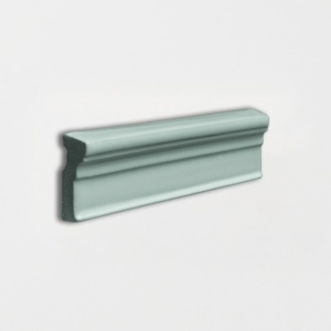 Witty Green Glossy Ogee Trim Ceramic Moldings 2x6