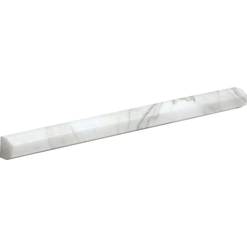 Calacatta Gold Polished Pencil Liner Marble Moldings 11/16×12