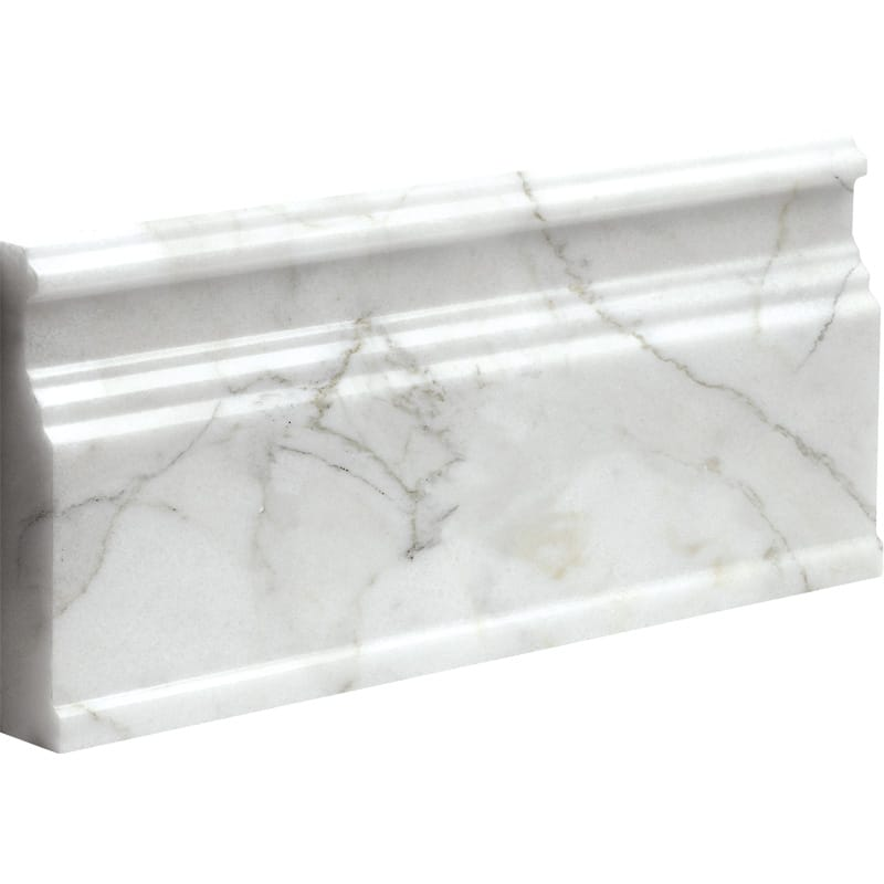 Calacatta Gold Polished 5 1/16x12 Base Marble Mouldings