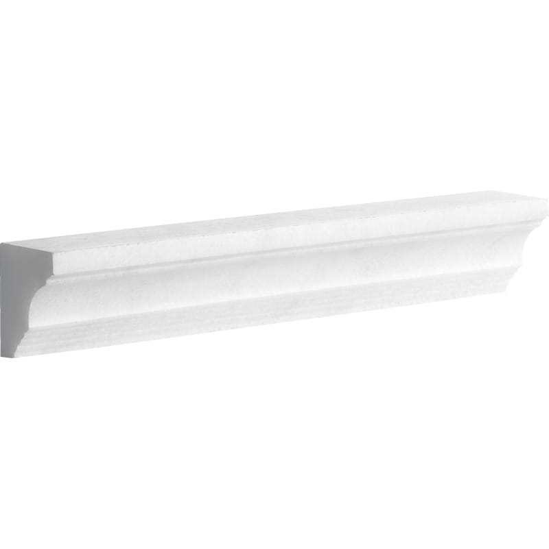 Elegant White Polished 2x12 Cornice Marble Mouldings