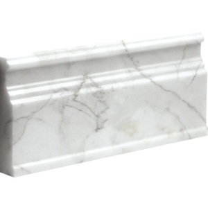 Calacatta Gold Honed Base Marble Moldings 5 1/16x12