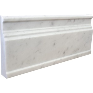 White Carrara Extra Polished Marble Moldings 5x12