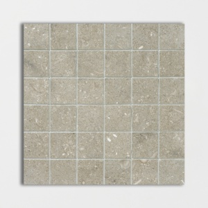 Olive Green Honed 2x2 Limestone Mosaics 12x12