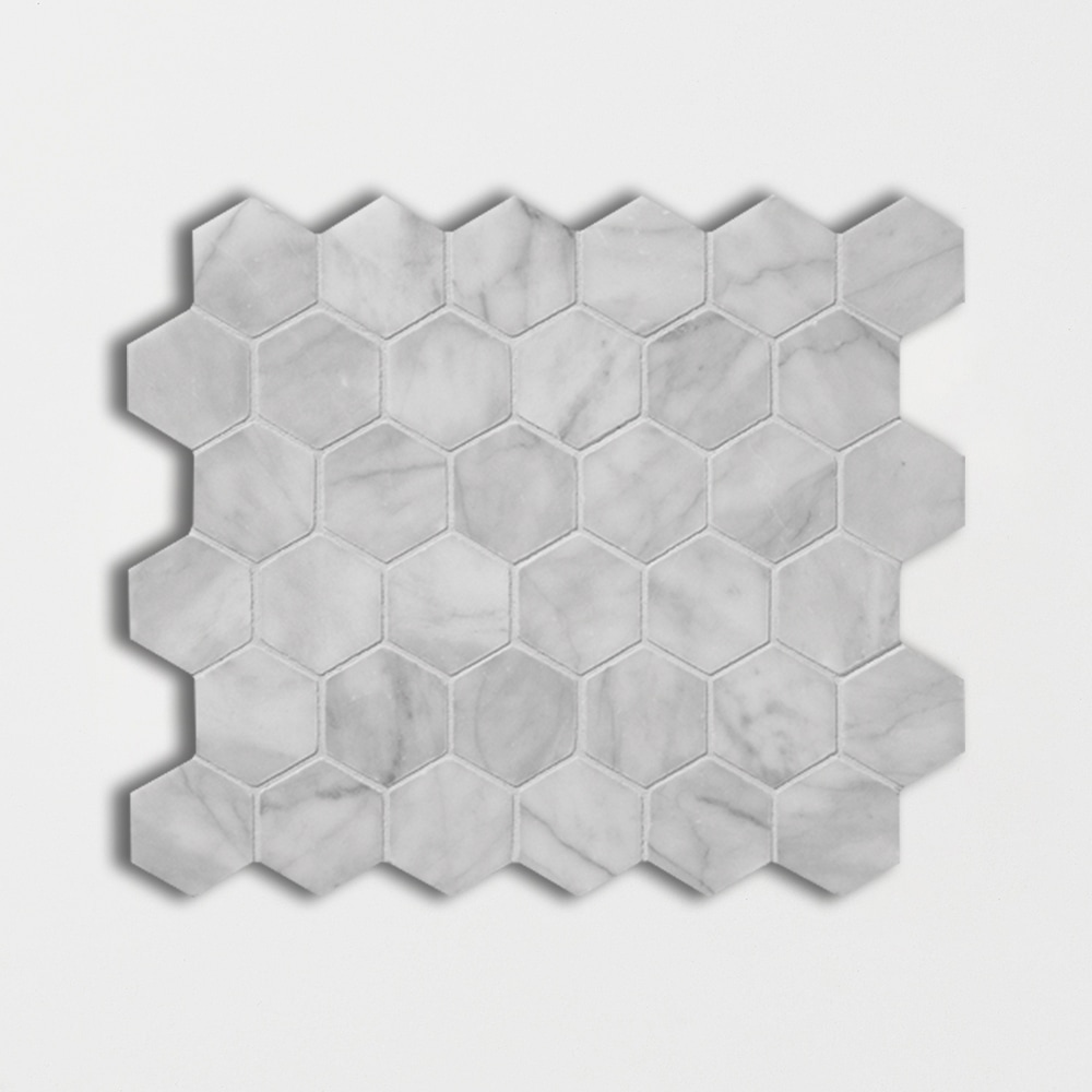 Avenza Honed 10 3/8x12 Hexagon Marble Mosaics