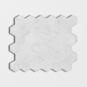 Glacier Honed Hexagon Marble Mosaics 10 3/8x12