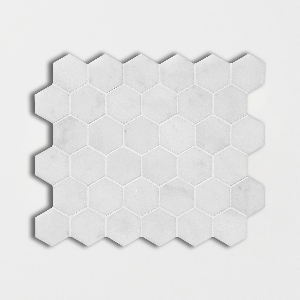 Avalon Polished 10 3/8x12 Hexagon Marble Mosaics