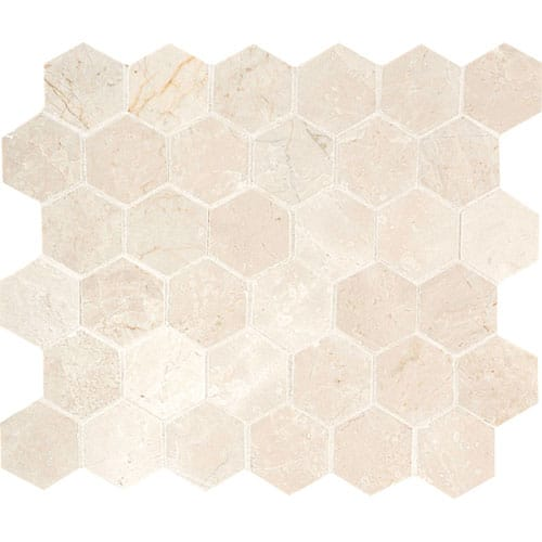 Princeton Polished Hexagon Marble Mosaics 10 3/8x12