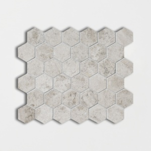 Silver Clouds Polished Hexagon Marble Mosaics 10 3/8x12