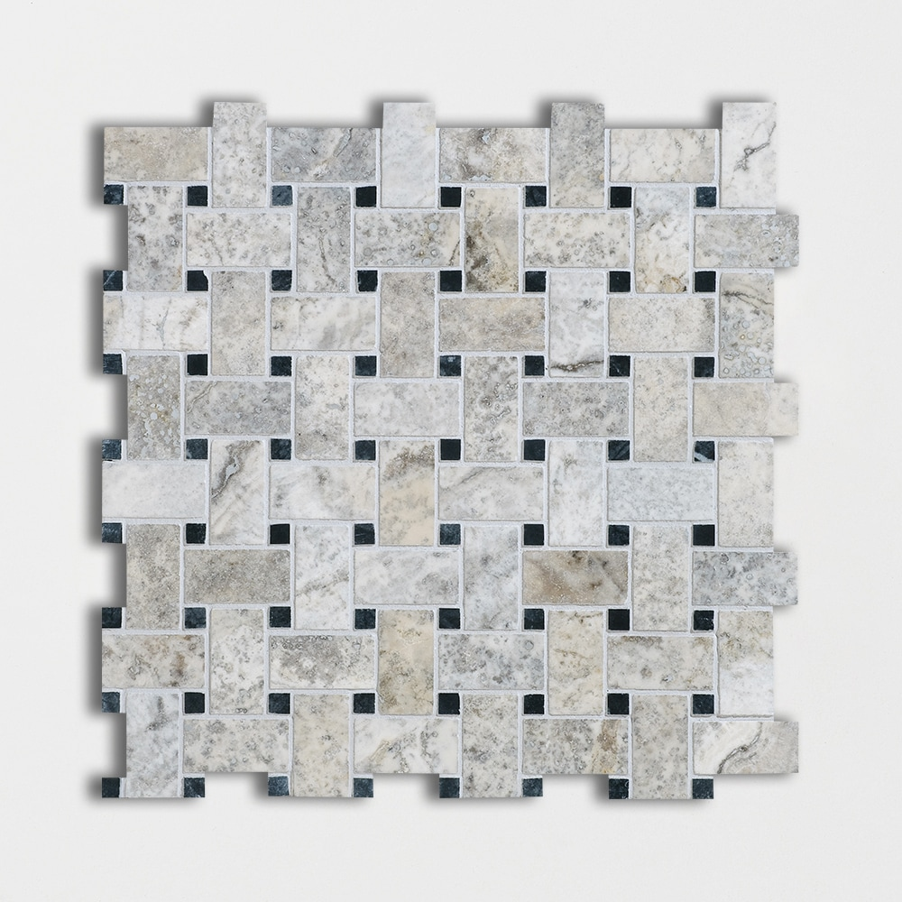 Silverado Honed Amp Filled Basket Weave Travertine Mosaics 12x12