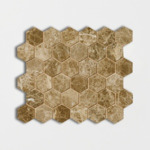 Paradise Polished Hexagon Marble Mosaics 10 3/8x12