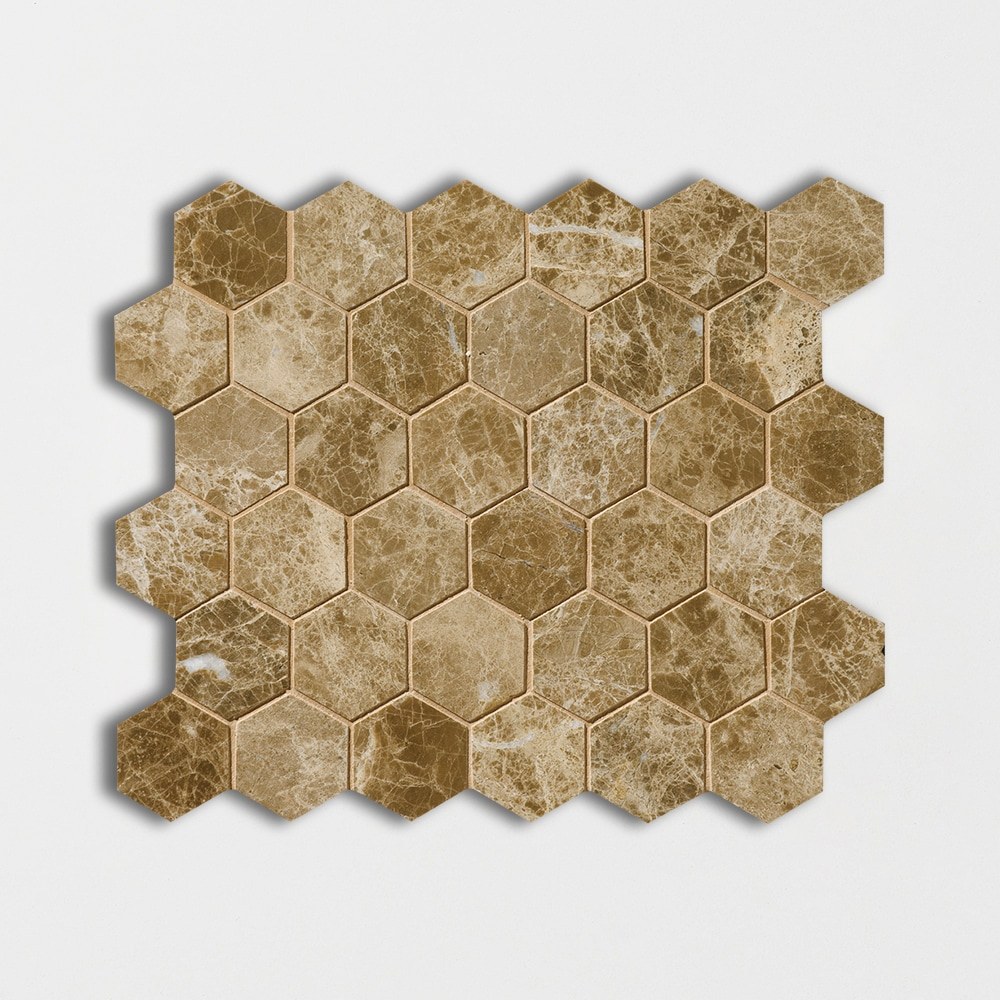 Paradise Polished 10 3/8x12 Hexagon Marble Mosaics