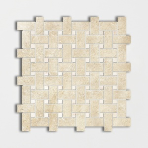 Casablanca&afyon Sugar Honed Basket Weave Limestone Mosaics 12x12