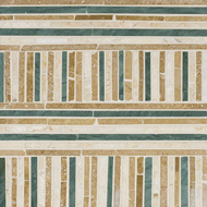 Autumn Polished Bali Mosaic Travertine Mosaics 16x16
