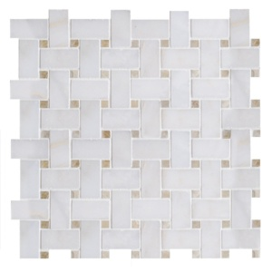 Afyon Sugar&honey Onyx Polished Basket Weave Marble Mosaics 12x12