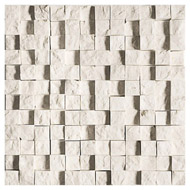 Diana Royal Rock Face 1x1 Marble Mosaics 12 5/8x12 5/8