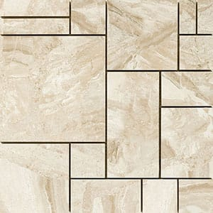 Diana Royal Polished Ashlar Pattern Marble Mosaics 12x12