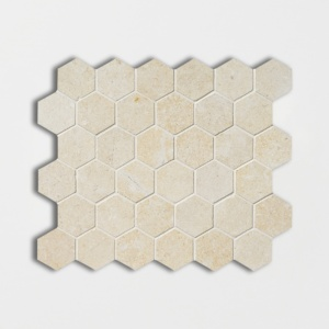 Casablanca Honed Hexagon Limestone Mosaics 10 3/8x12