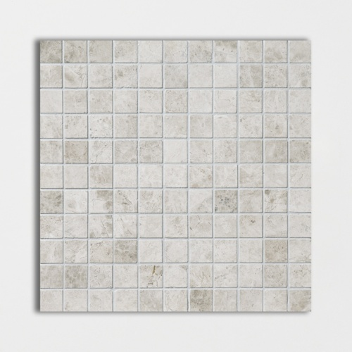 Silver Clouds Polished 1x1 Marble Mosaics 12x12