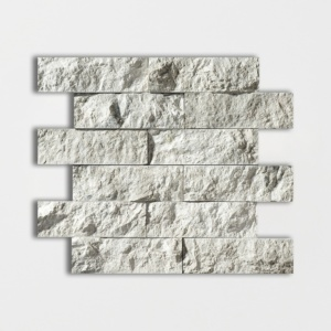 Silver Shadow Rock Face 2x6 Marble Mosaics 12x14