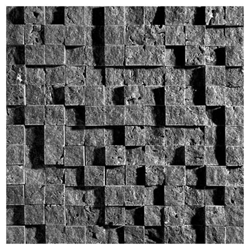 Coco Brown Rock Face 1x1 Marble Mosaics 12 5/8x12 5/8