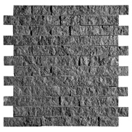 Coco Brown Rock Face 1x2 Marble Mosaics 12 5/8x12 5/8