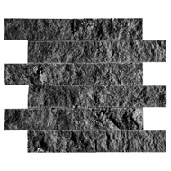 Coco Brown Rock Face 2x6 Marble Mosaics 11 3/4x13 3/4