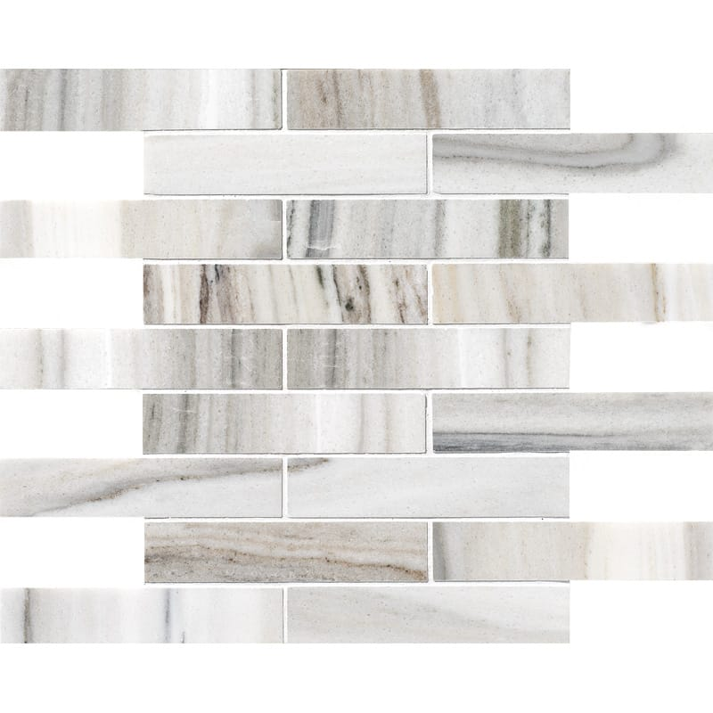 Skyline Polished 1 1/4×6 Marble Mosaics 12×12