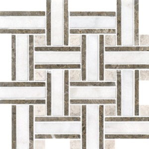 Avalon Polished Lattice Marble Mosaics 12x12