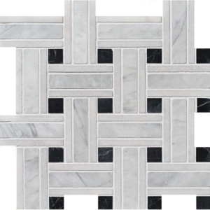Avenza Honed Lattice Marble Mosaics 12x12