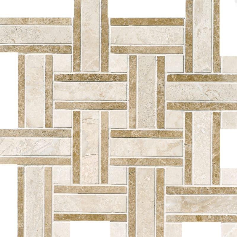 Diana Royal Polished Lattice Marble Mosaics 12x12 Marble
