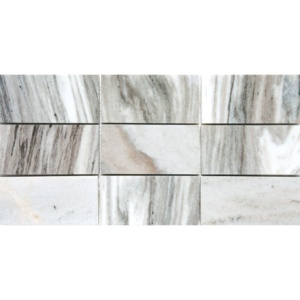 Verona Polished Subway On Mesh 2 3/4x5 1/2 Marble Mosaics 8 1/2x16 3/4