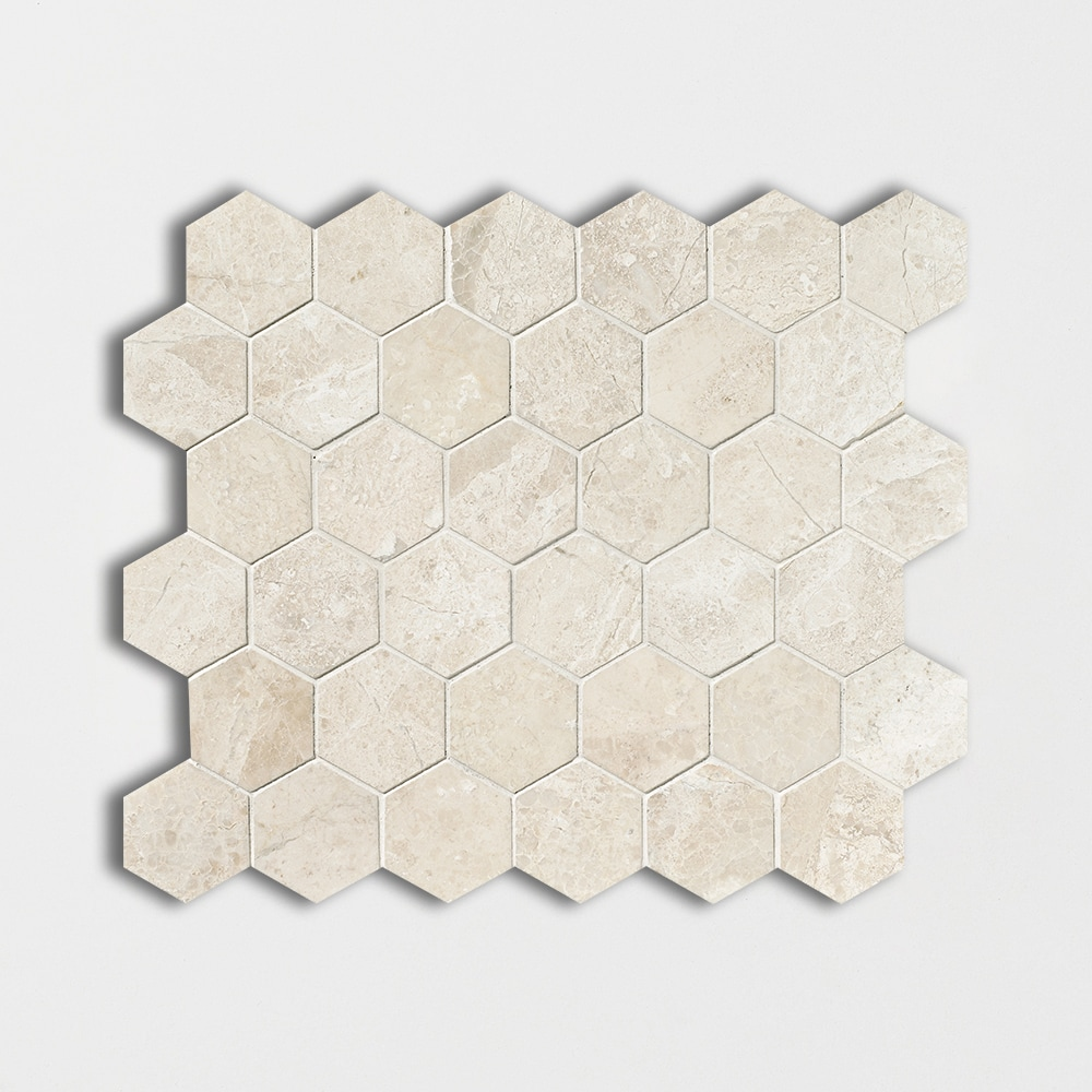 Diana Royal Honed 10 3/8x12 Hexagon Marble Mosaics
