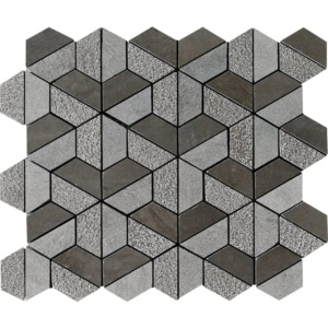 Bosphorus Textured 3d Hexagon Marble Mosaics 10 3/8x12