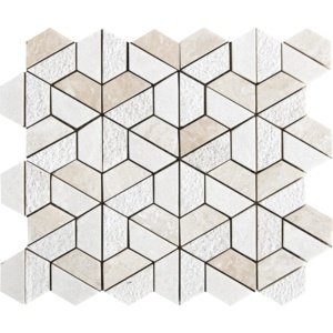 Diana Royal Textured 3d Hexagon Marble Mosaics 10 3/8x12