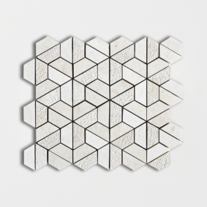 Heartsmere Textured 3d Hexagon Marble Mosaics 10 3/8x12