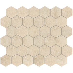 Cappuccino Polished Hexagon Marble Mosaics