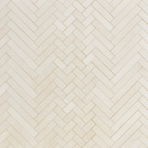 Champagne Honed Mixed Herringbone Marble Mosaics 16 5/6x12 1/16