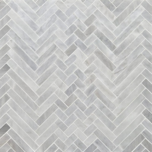 Avenza Honed Mixed Herringbone Marble Mosaics 16 5/6x12 1/16
