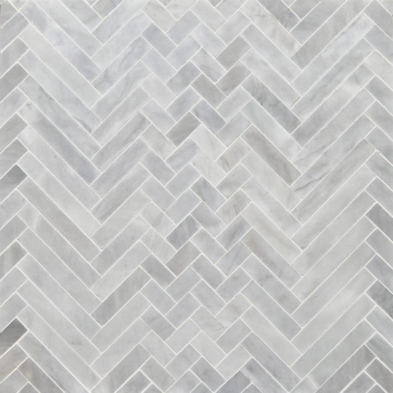 Avenza Honed Mixed Herringbone Marble Mosaics 16 5 6x12 1 16