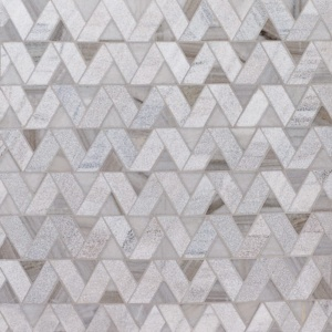 Skyline Multi Finish Monte Marble Mosaics 12 3/8x12 3/8