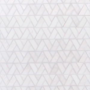Snow White Multi Finish Monte Marble Mosaics 12 3/8x12 3/8